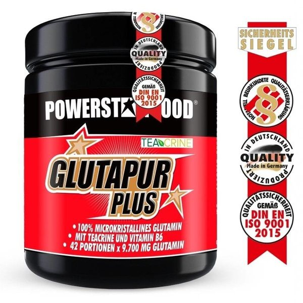 Glutapur PLUS - L-Glutamin Pulver - 500g Cherry Bomb - Powerstar Food