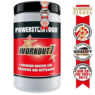 Workout 7 - Pre Workout Ausdauer Booster - 900g - Powerstar Food